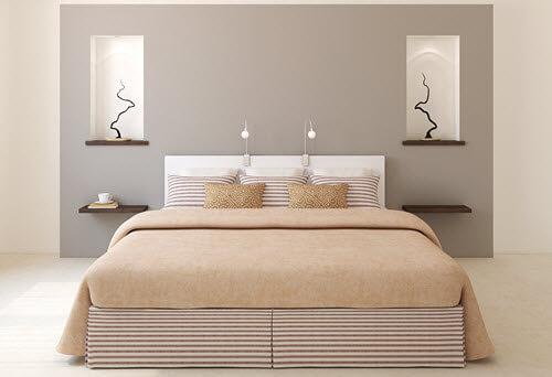 Ein Schlafzimmer bei Hausstauballergie