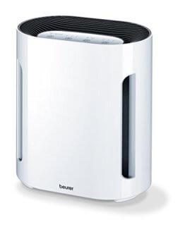 Beurer LR 200 Luftreiniger mit HEPA-Kombifilter und Ionen-Funktion, gegen Staub, Tierhaare, Pollen, Bakterien und Viren -