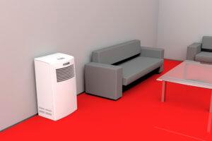 Luftwäscher im Wohnzimmer